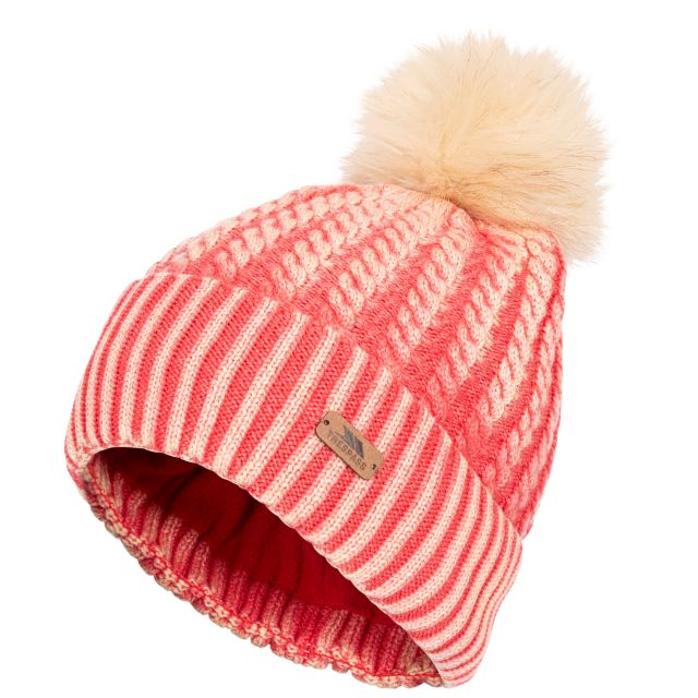 Faded Women's Knitted Hat in Hibiscus