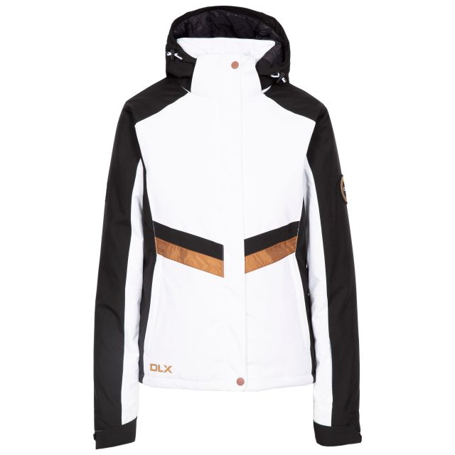 Gwen Women's DLX Waterproof Ski Jacket in White