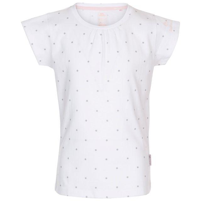 Trespass Kids' Quick Dry T-Shirt Harmony White Pale Grey Dot