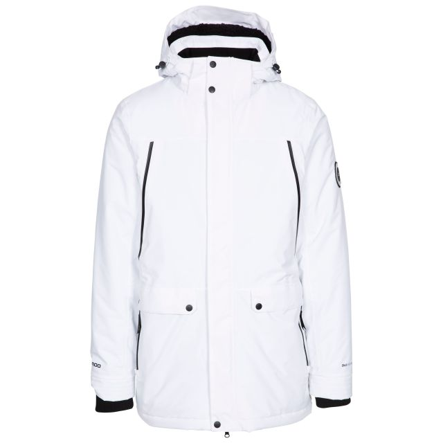 Harris Men's DLX Padded Waterproof Jacket with Sherpa Fleece Lining in White