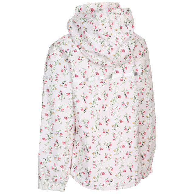 Trespass Girls Waterproof Jacket Hopeful Floral White Print
