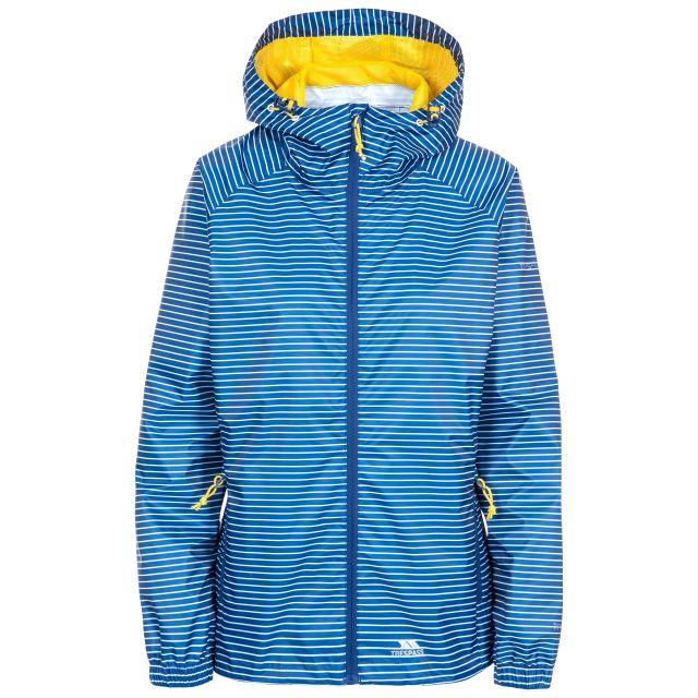 Trespass Womens Waterpoof Packaway Jacket Indulge in Blue