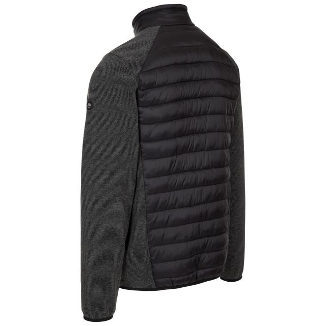 Trespass Men's Fleece Jacket Hybrid Full Zip Jynxter Black