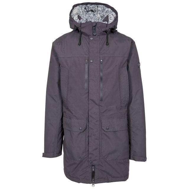 Quaintonring Men's Padded Waterproof Jacket in Dark Grey
