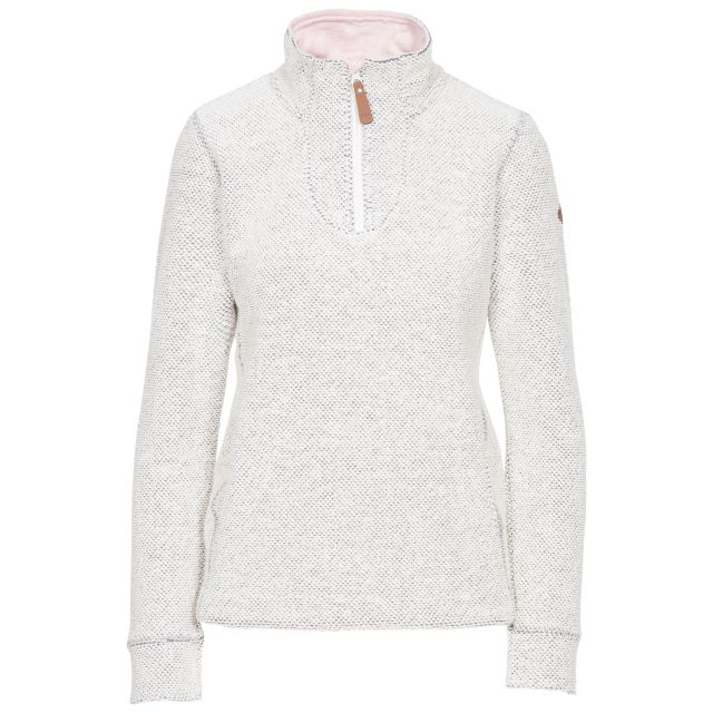 Ronette Women's 1/2 Zip Neck Fleece in Off White