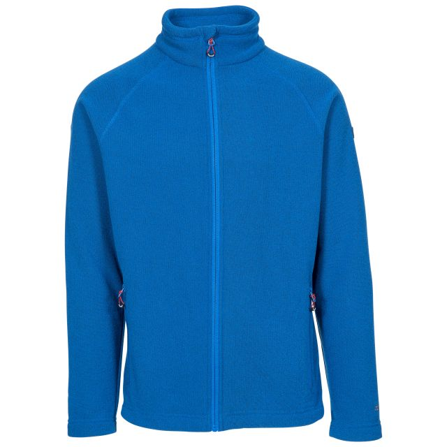 Trespass Adults Fleece Jacket Full Zip 2 Pockets Steadburn Blue