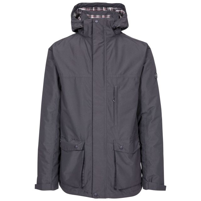Vauxelly Men's Padded Waterproof Jacket in Dark Grey