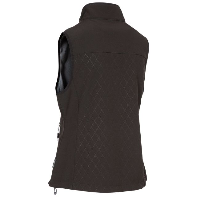 Trespass Womens Gilet Fitted Softshell 2 Zip Pockets Verity Black