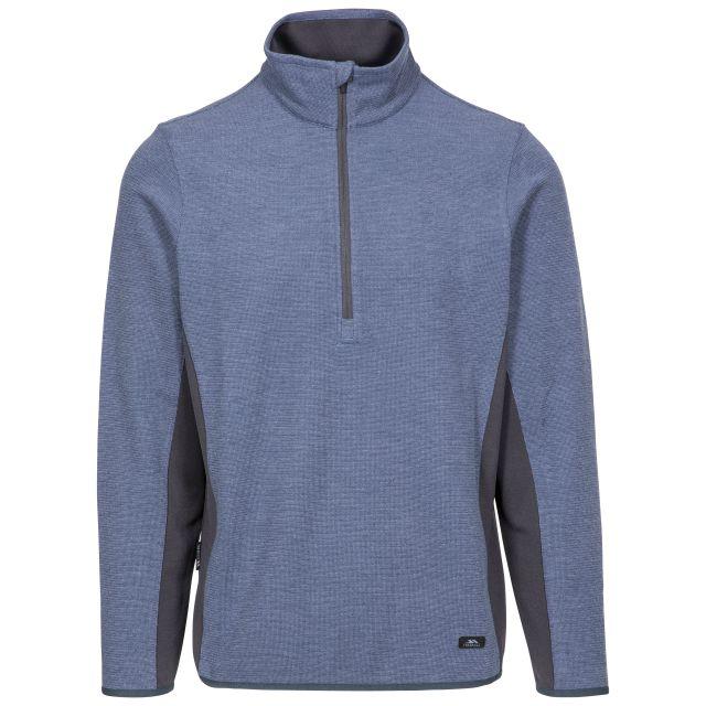 Wotterham Men's Half Zip Knitted Top in Blue