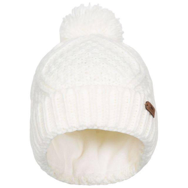 Zyra Adults Knitted Beanie and Slouch Hat in White
