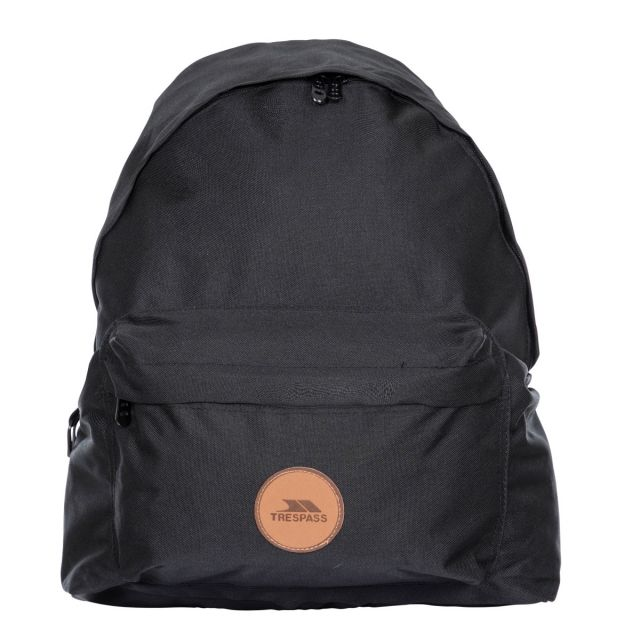 Aabner Black 18L Casual Backpack - BLK, Front view