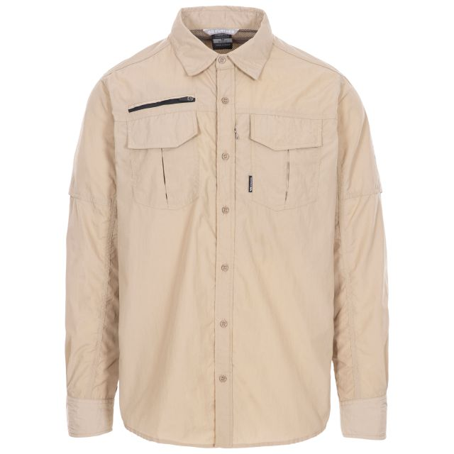 Abbeydorney Men's Travel Shirt in Beige