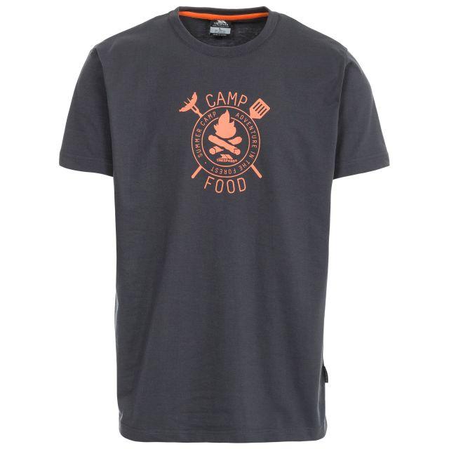 Adder Men's Printed Casual T-Shirt in Grey