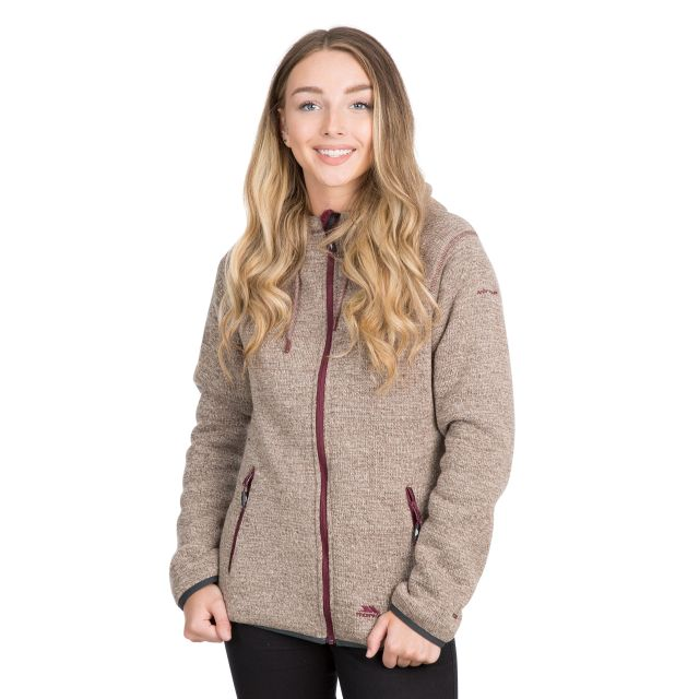 Albatross Women's Heavyweight Fleece Hoodie in Brown