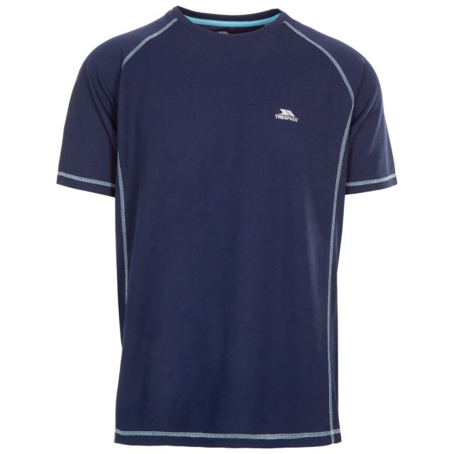 Albert Men's Quick Dry Active T-Shirt Navy, Front view on mannequin