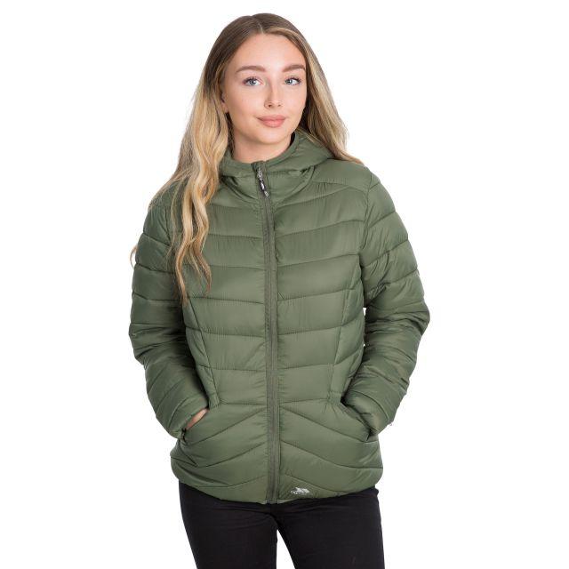 Trespass Womens Padded Jacket Alyssa in Green