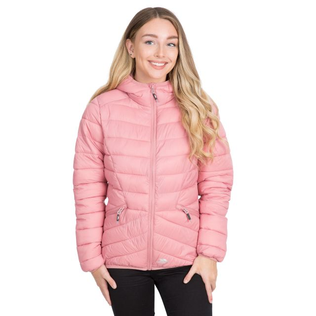 Trespass Womens Padded Jacket Alyssa in Pink