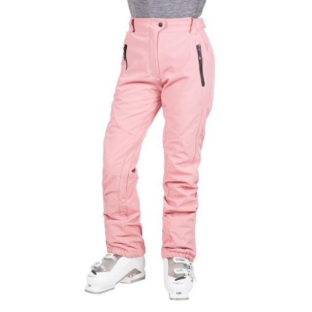 Amaura Women's Softshell Ski Trousers in Pink