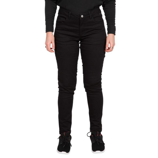 Aneta Women's Trousers with Comfort Stretch in Black