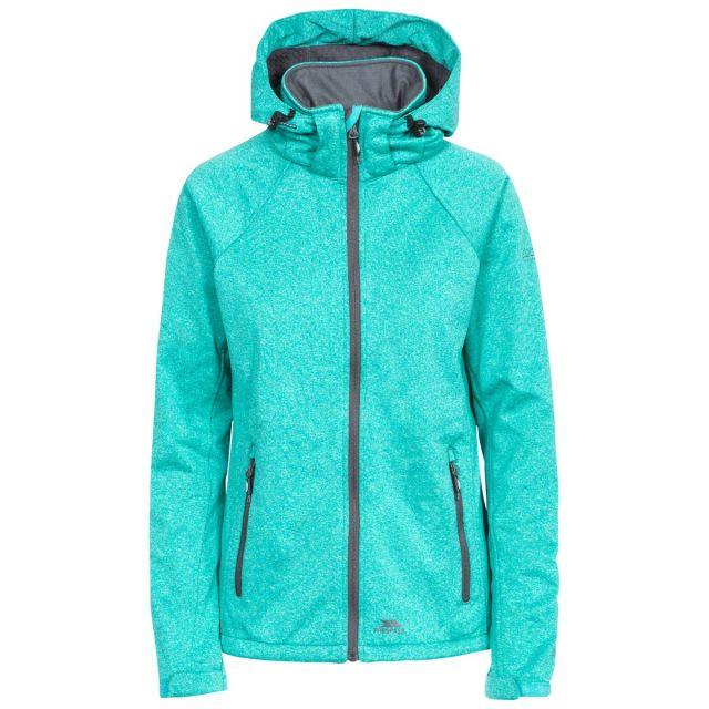 Angela Women's Windproof Softshell Jacket in Green
