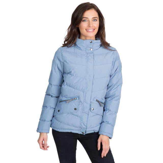 Trespass Womens Padded Jacket Windproof Angelina in Light Blue