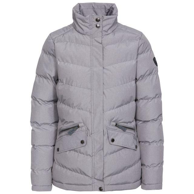 Trespass Womens Padded Jacket Windproof Angelina in Light Grey