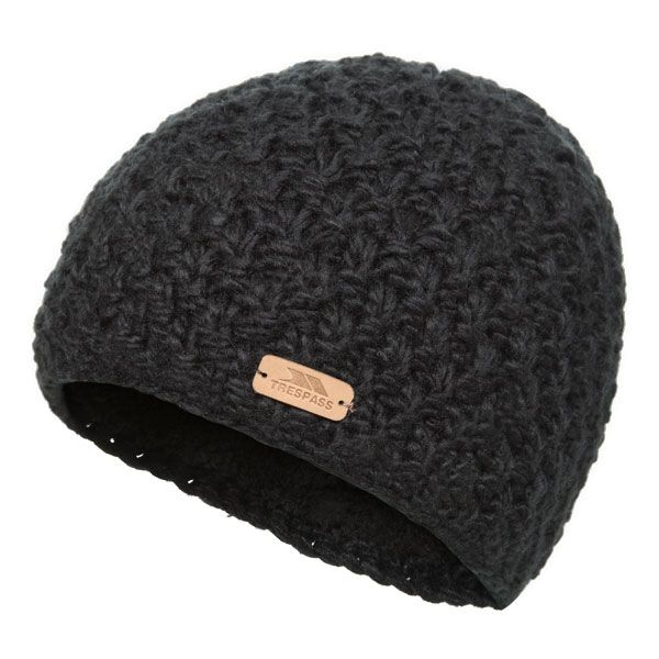 Ania Women's Knitted Beanie Hat in Black