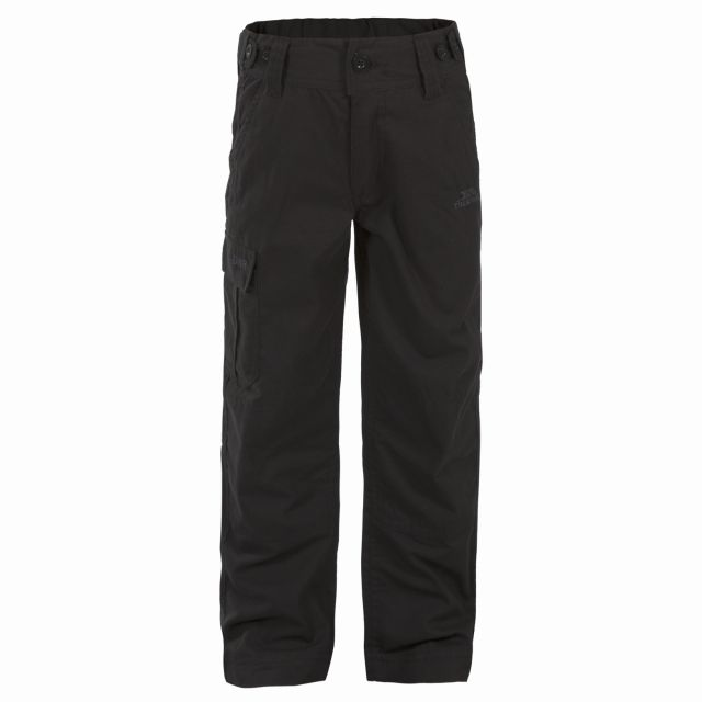 Ardle Kids' Cargo Trousers in Black