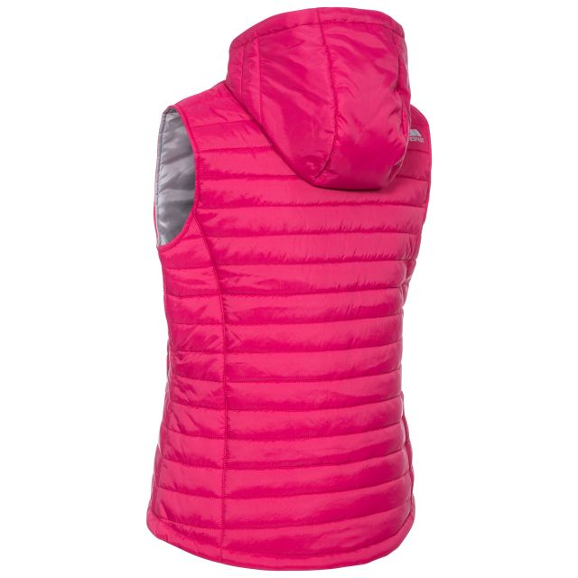 Aretha Women's Hooded Padded Gilet in Pink
