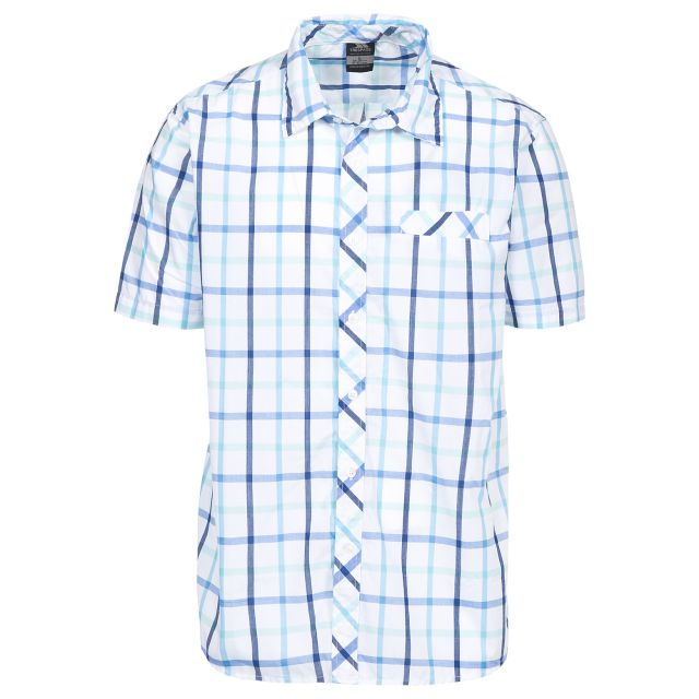 Arviat Men's Short Sleeve Checked Shirt in Blue