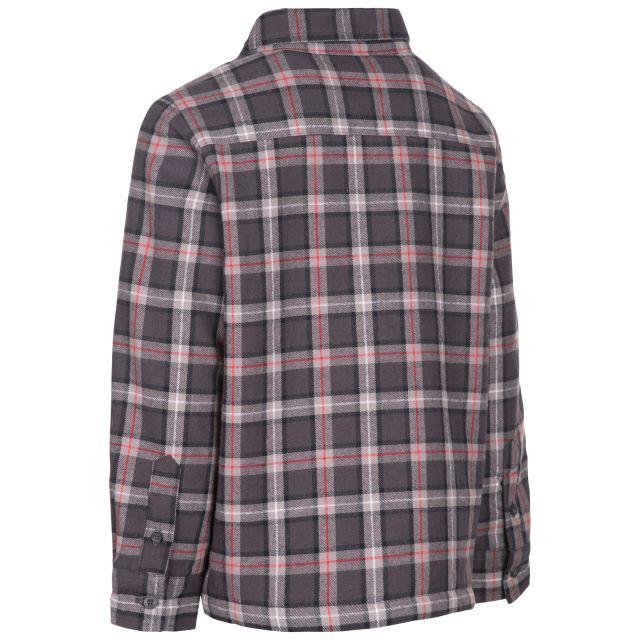 Trespass Kids' Gingham Checked Shirt Average Dark Grey Check
