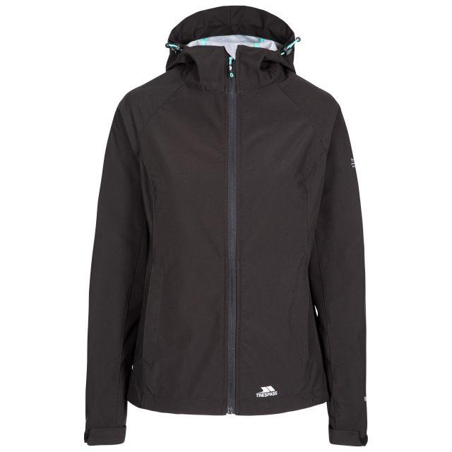 Aviana Women's Hooded Softshell Jacket in Black