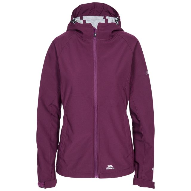 Trespass Womens Softshell Jacket with Hood Avianna Purple