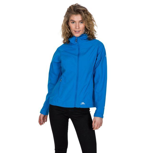 Aviana Women's Hooded Softshell Jacket in Blue