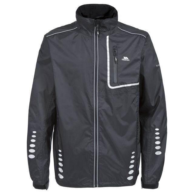 Axle Men's Waterproof Cycling Jacket in Black