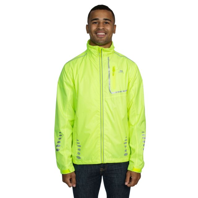 Axle Men's Waterproof Cycling Jacket in Yellow