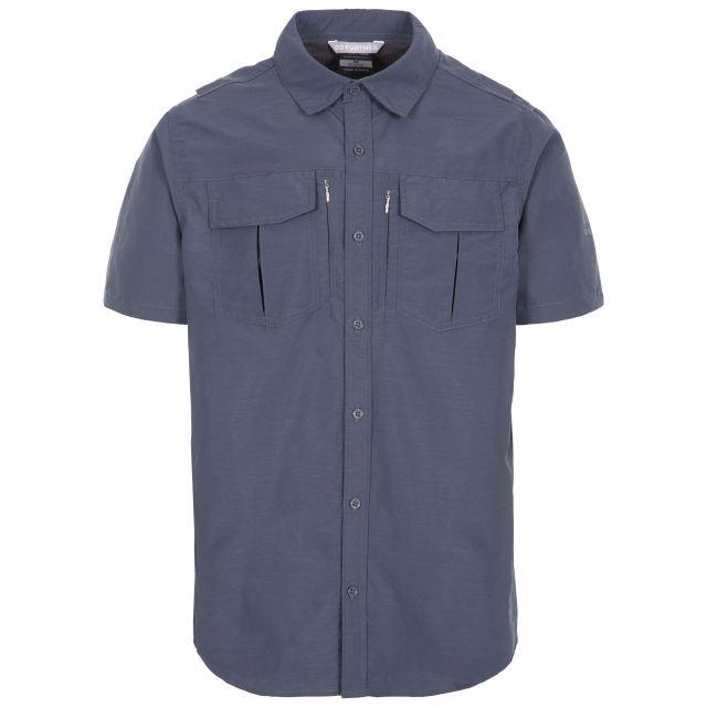 Baddenotch Men's Travel Shirt  in Grey