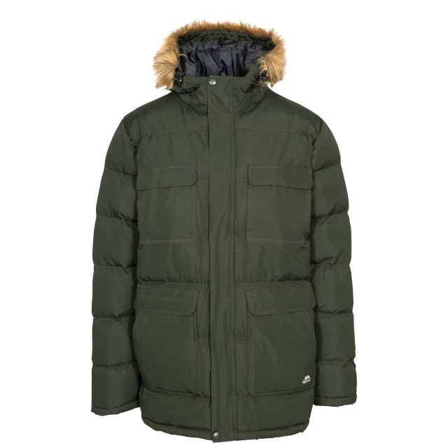 Baldwin Men's Padded Parka Jacket in Khaki