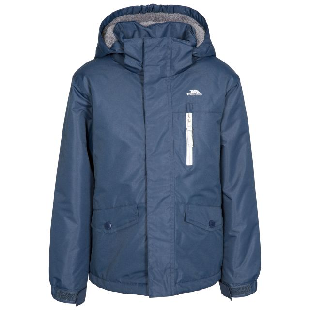 Trespass Boys Rapt Waterproof Jacket With Removable Hood