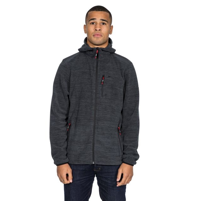 Barack Men's Fleece Hoodie in Black