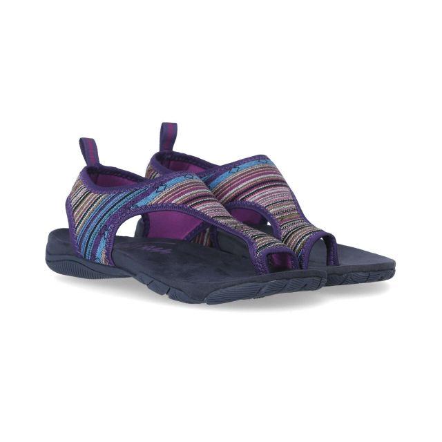 Beachie Women's Walking Sandals in Purple