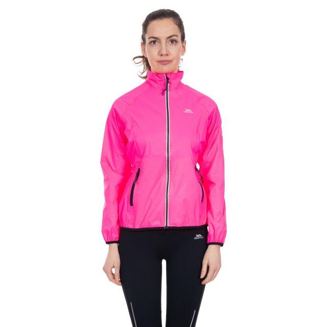 Trespass Womens Waterproof Packaway Jacket Beaming in Pink