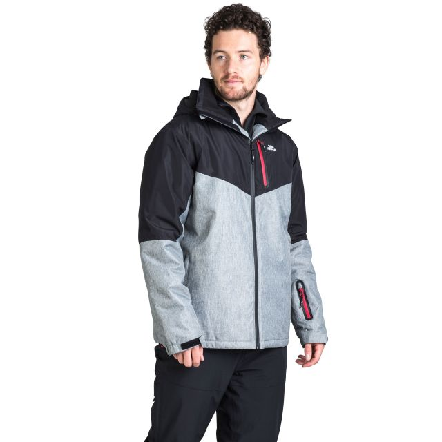 Bear Men's Padded Waterproof Ski Jacket in Black