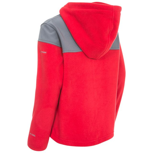 Trespass Kids Full Zip Fleece Hoodie in Red Bieber