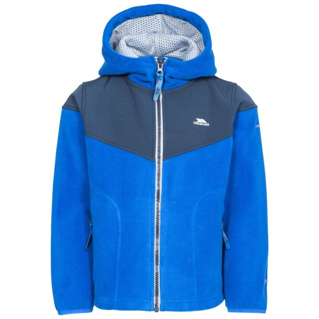 BIEBER - B MALE FLEECE AT200 in Blue, Front view on mannequin