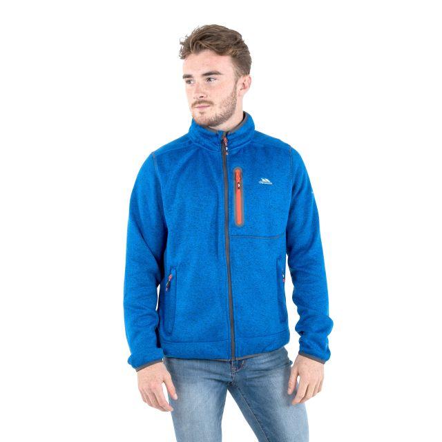 Bingham Men's Marl Fleece Jacket in Blue
