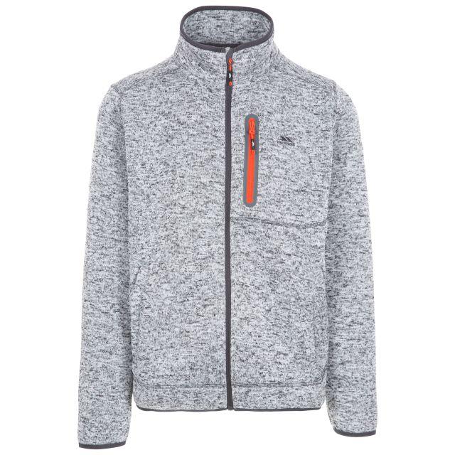 Bingham Men's Marl Fleece Jacket in Light Grey