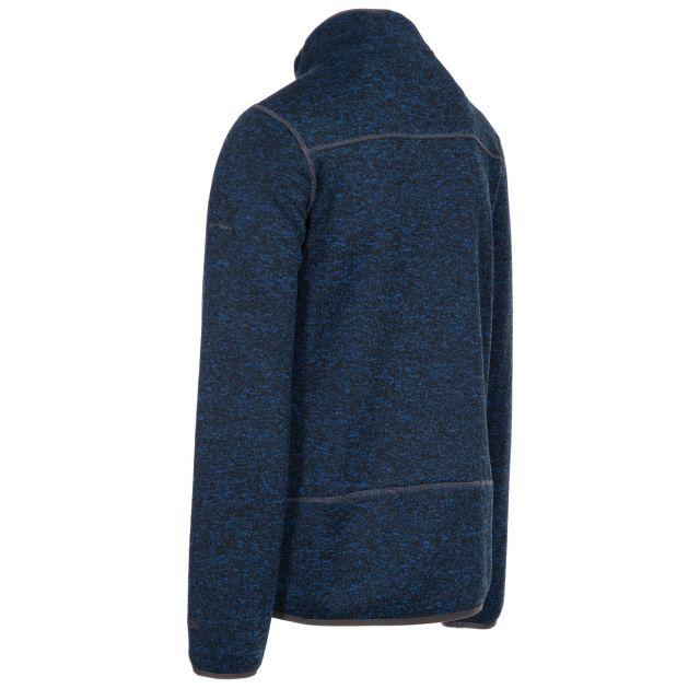 Bingham Men's Marl Fleece Jacket in Navy