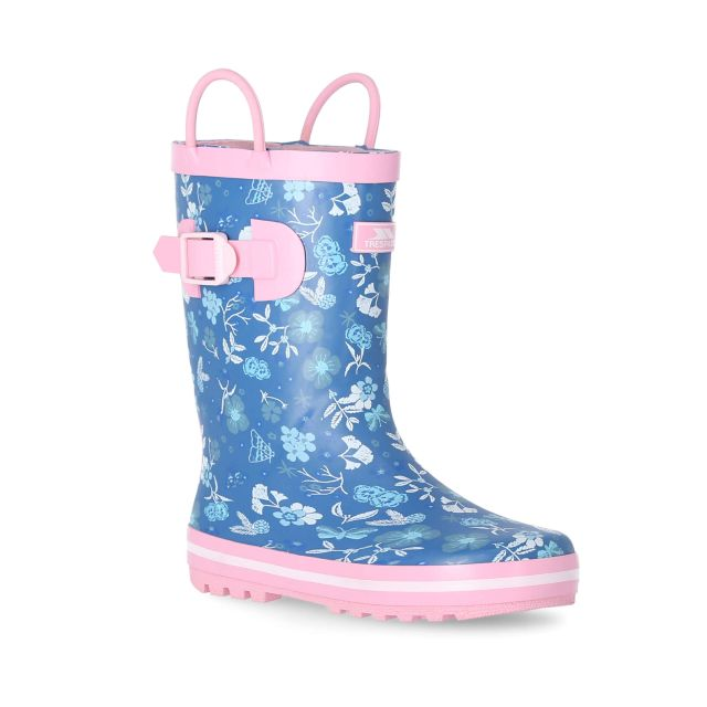 Bloss Kids' Printed Wellies in Light Blue