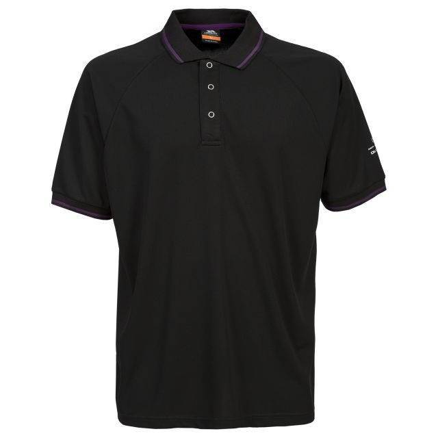 Bonington Men's Quick Dry Polo Shirt in Black
